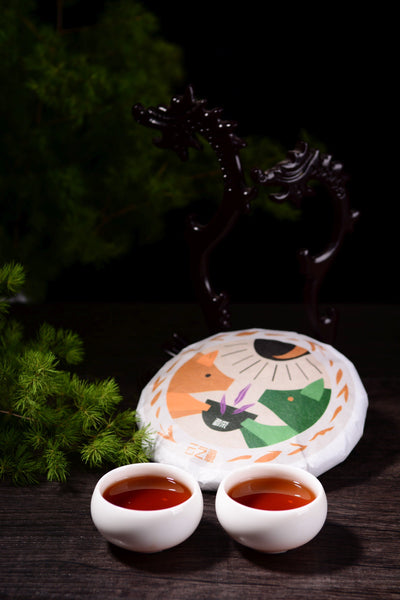 "2019 Yunnan Sourcing ""Meng Song"" Ripe Pu-erh Tea Cake"