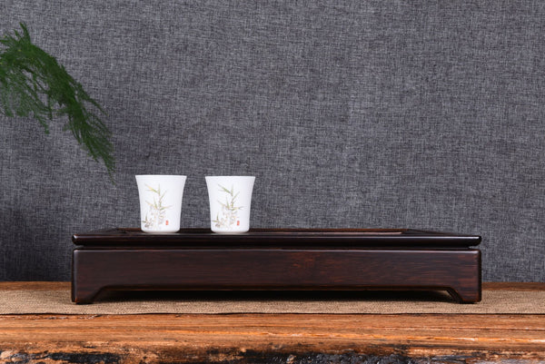 Stained Bamboo Wood Tea Table for Gong Fu Cha