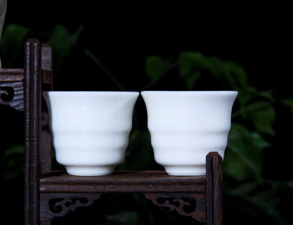 "Jingdezhen Porcelain ""Ribbed"" Cup in Gift Box * 60ml"