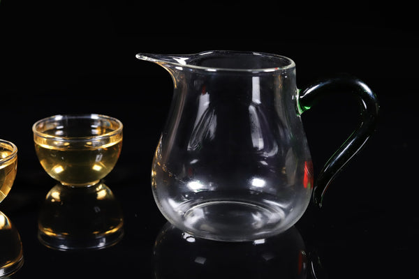 Long Spout Green Handled Cha Hai for Gong Fu Tea Service