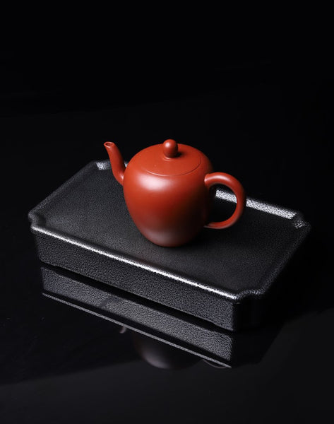 Frosted Finish on Black Steel Tea Table for Gong Fu Tea Brewing