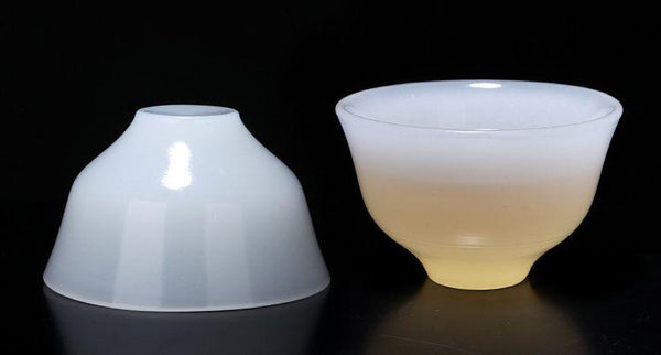"De Hua Jade Porcelain ""Yu Ci"" White Cups for Tea * Set of 2"