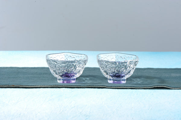 Purple Ice Storm Glass Cups for Gong Fu Tea * Set of 2