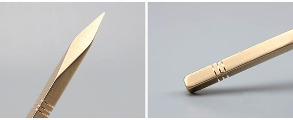 Pure Brass Diamond Shaped Tea Pick for Pu-erh Tea