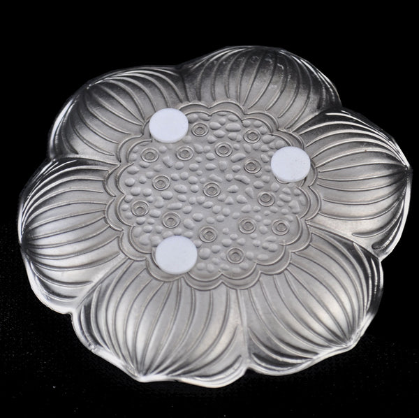 "Stainless Steel ""Lotus Flower"" Coaster for Tea Cups"
