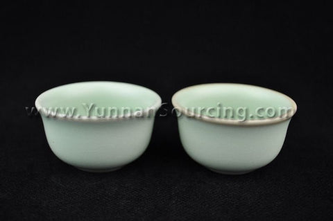 "Ru Yao Celadon ""Round"" Set of 2 Cups * 50ml each"