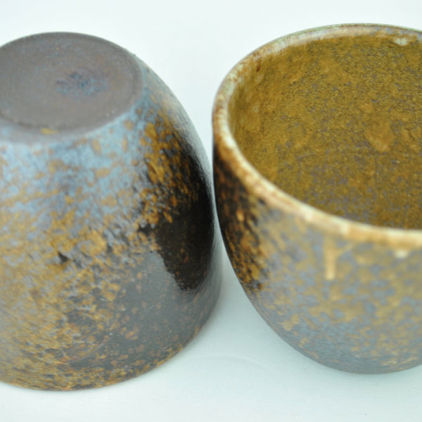 Wood Fired Glazed Yixing Clay Cups * 90ml * Set of 2