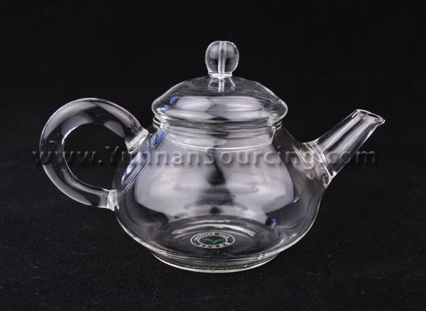 Heat-Tempered 200ml Glass Teapot with Removable Spring Filter