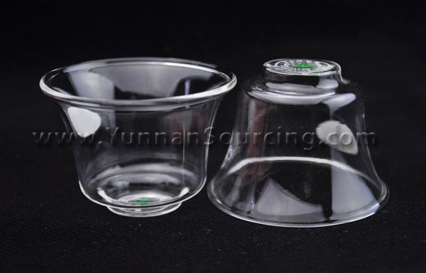 "Heat-Tempered Glass Tea Cups ""Tall"" 65ml * Set of 4"