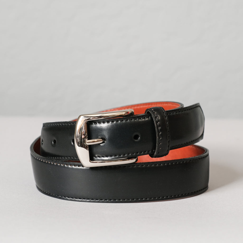 Alden Black Shell Cordovan Belt (Nickel Buckle)