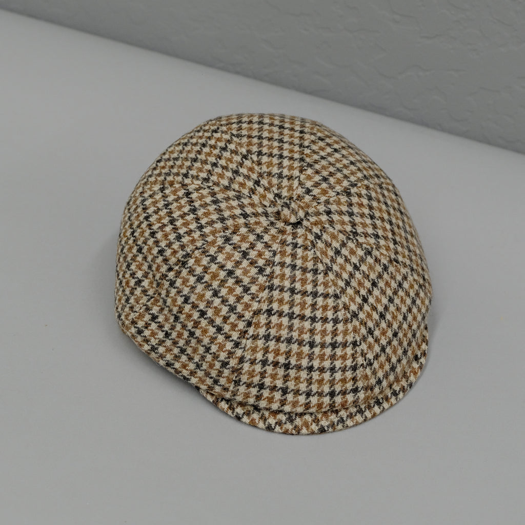 Cappellificio Biellese Houndstooth Wool Peaky Hat