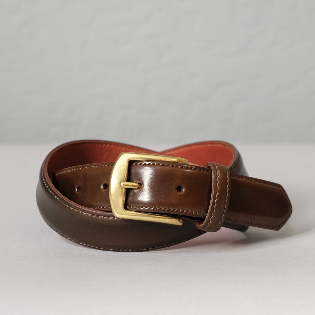 Alden Cigar Shell Cordovan Belt (Brass Buckle)