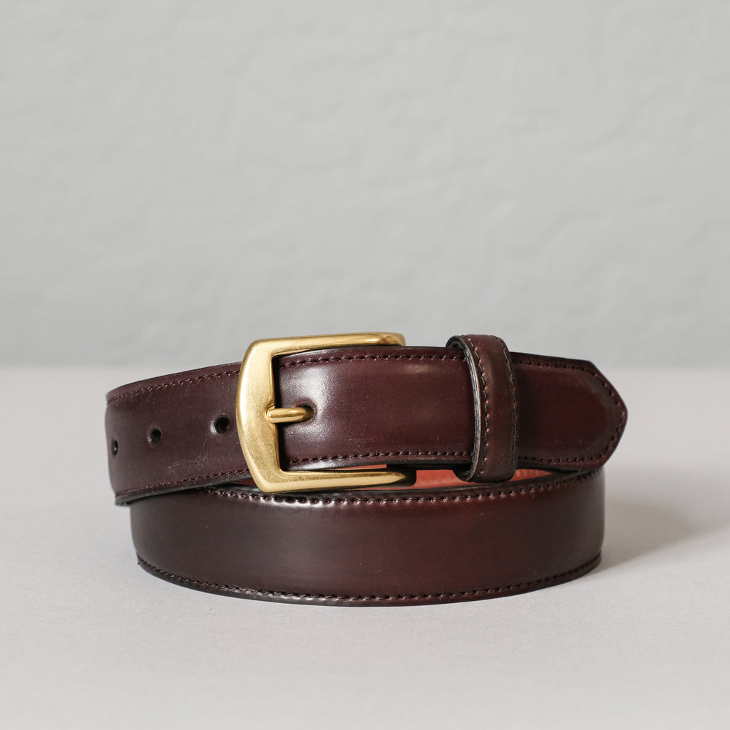 Alden Color 8 Shell Cordovan Belt (Brass Buckle)