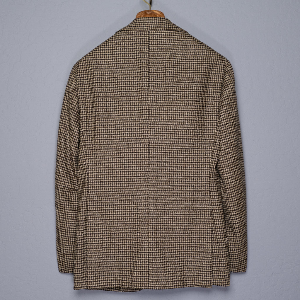 Ring Jacket Houndstooth Wool Jacket