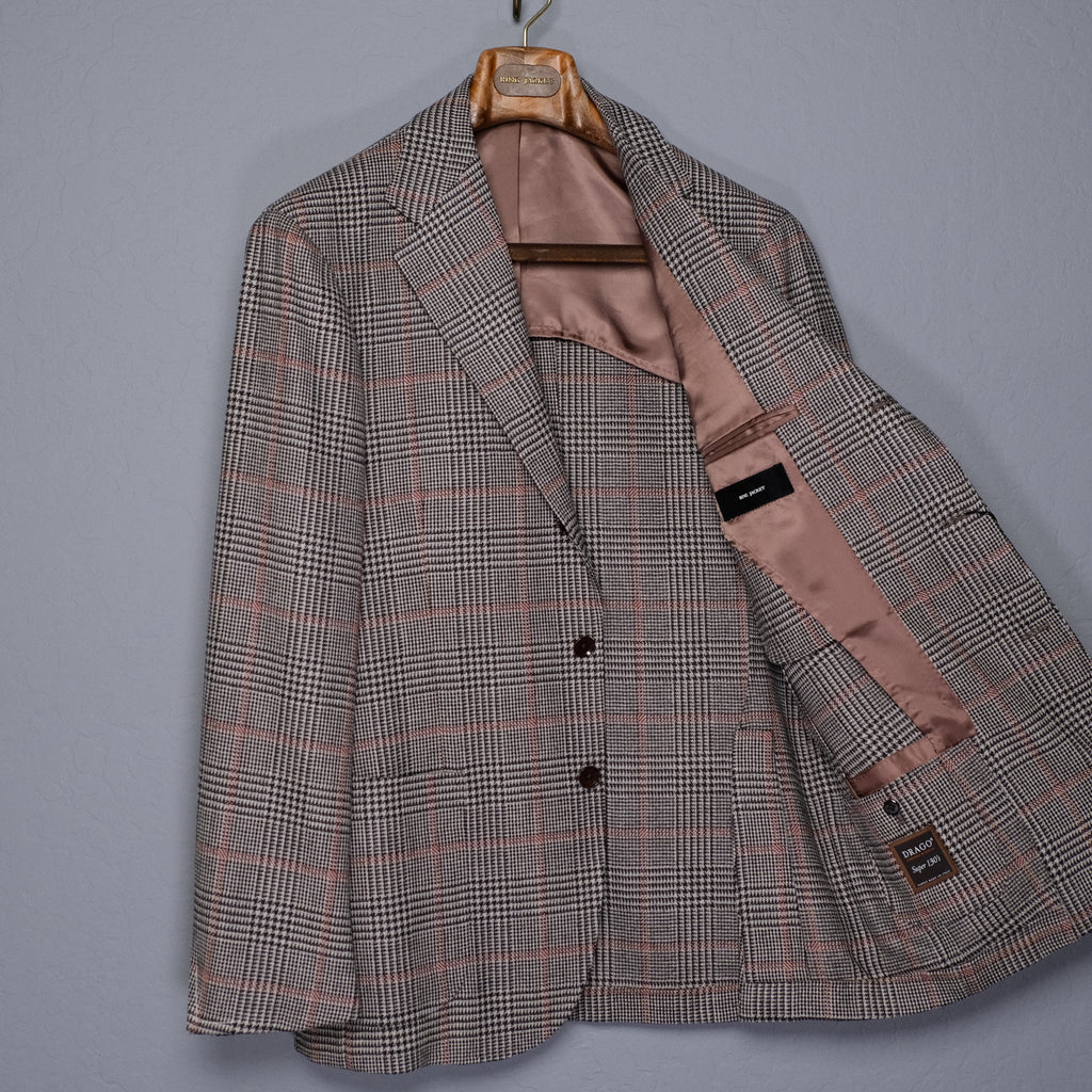 Ring Jacket Multi-Color Check Jacket