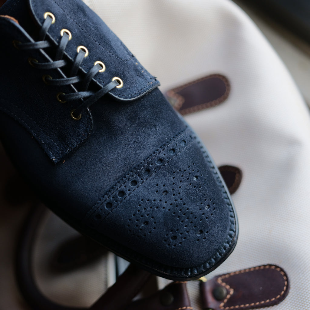 "Alden x Brogue ELVIS ""Blue Suede Shoes"""