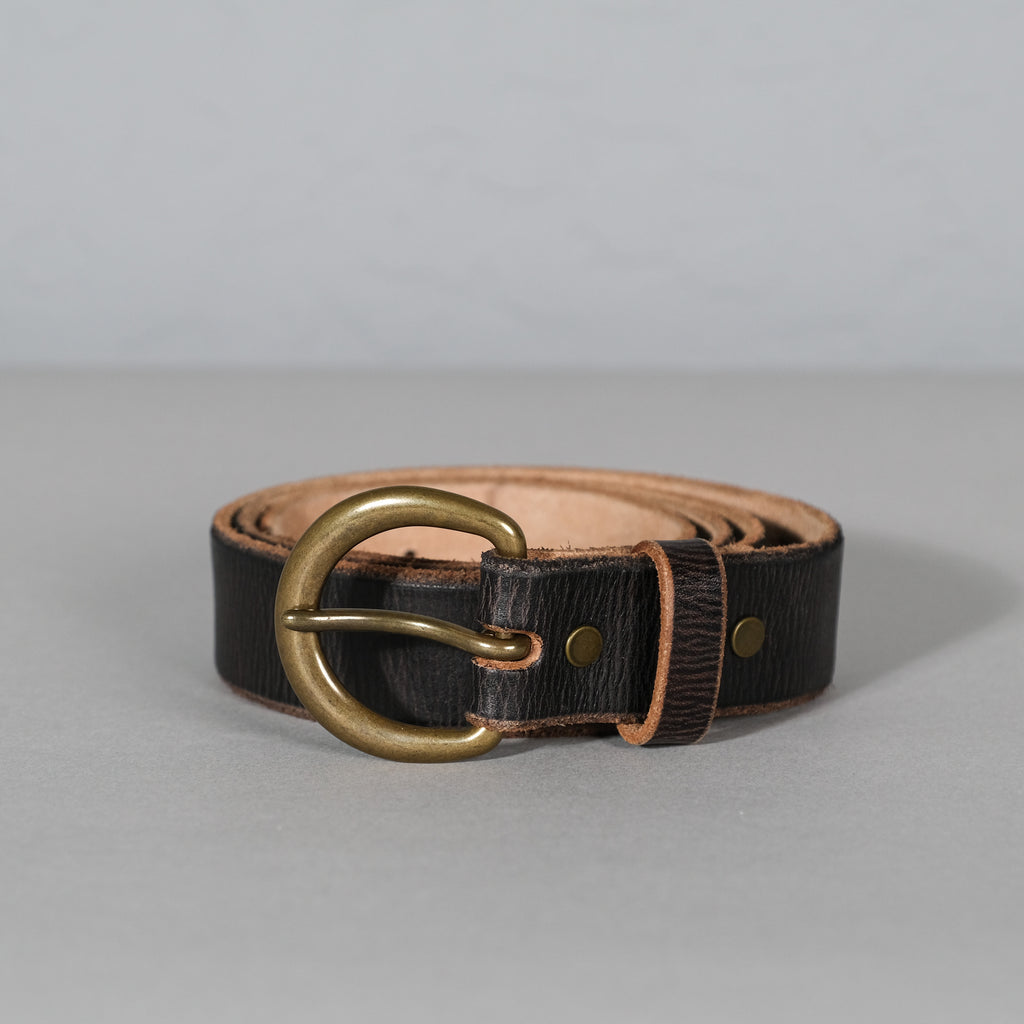 RRL Terrance Tumbled Leather Belt