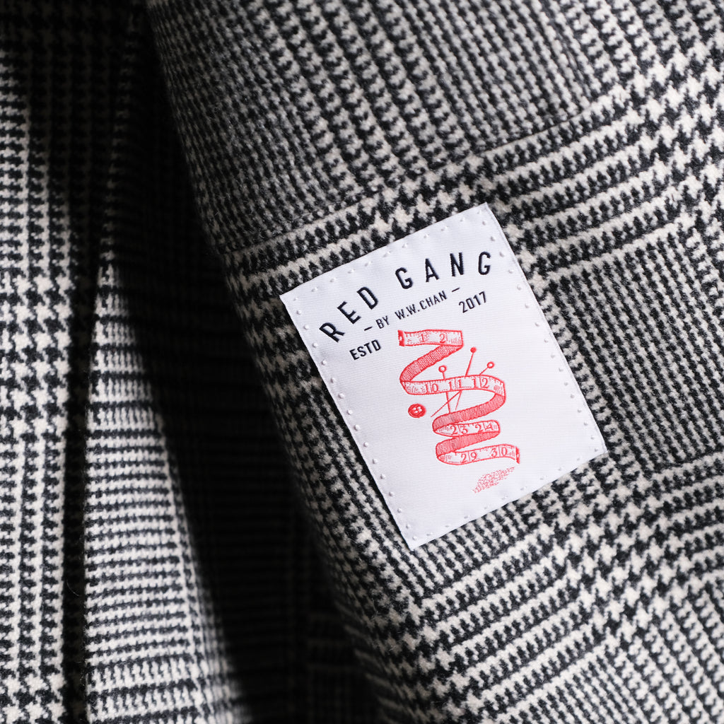 W.W.CHAN Red Gang for BROGUE Glen Plaid TEBA Jacket
