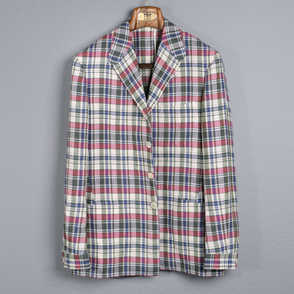W.W.CHAN Red Gang for BROGUE Madras Linen TEBA Jacket