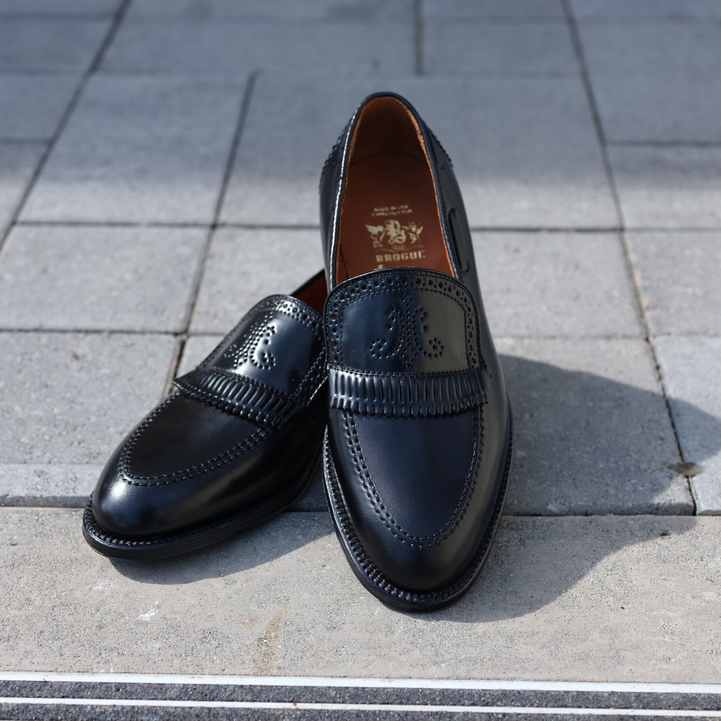 Alden x Brogue Palm Beach Loafer (Black)