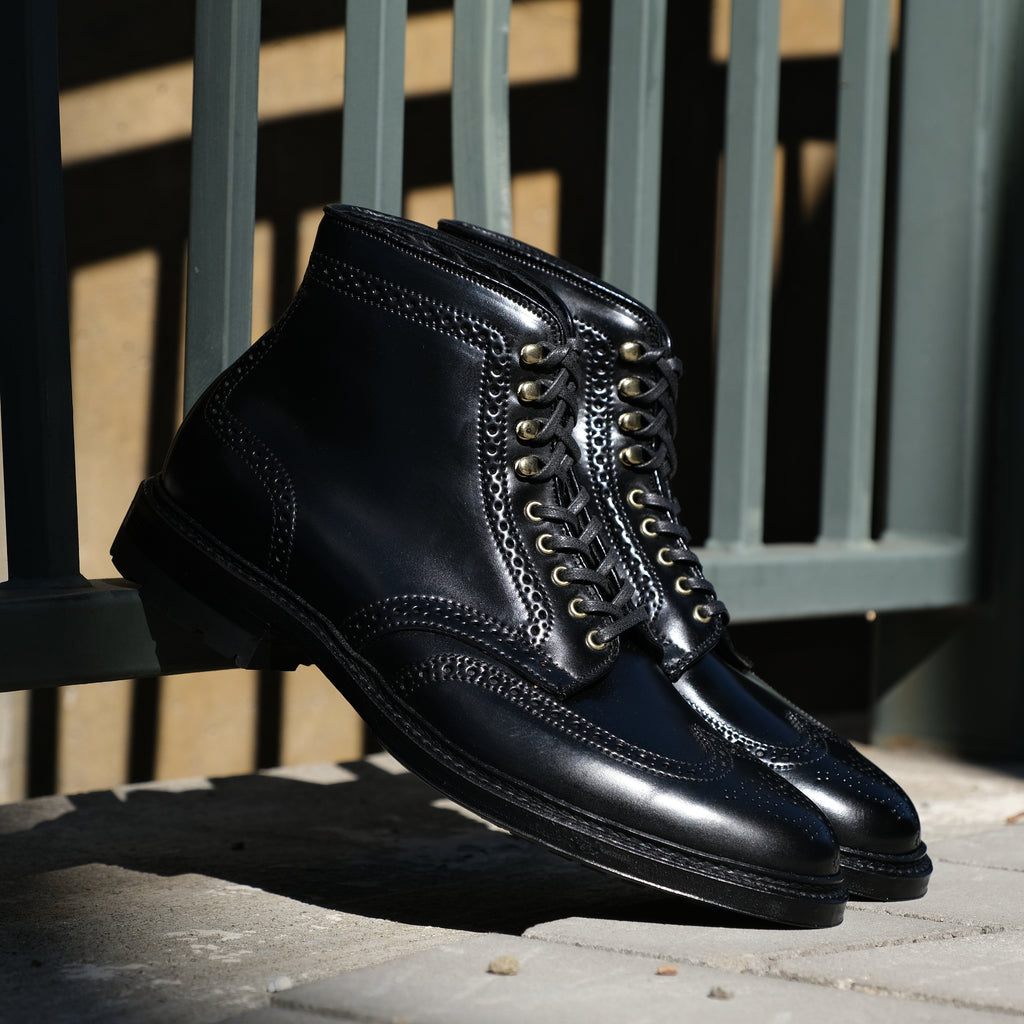 Alden x Brogue Wing Tip Boot