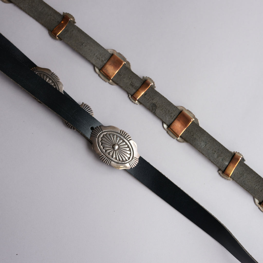 Navajo Style Leather Concho Belt