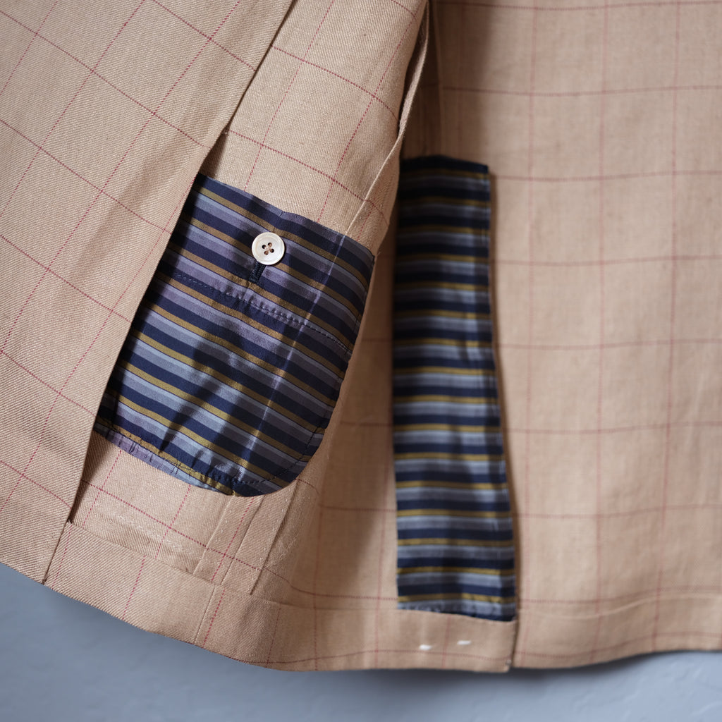 Orbium Windowpane Linen Jacket