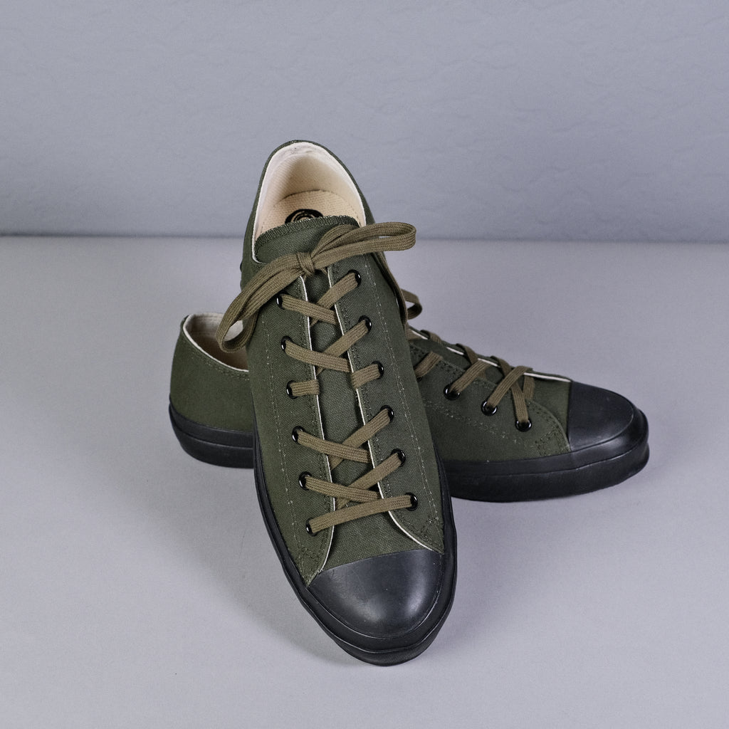 Shoes Like Pottery - Olive Duck Paraffin