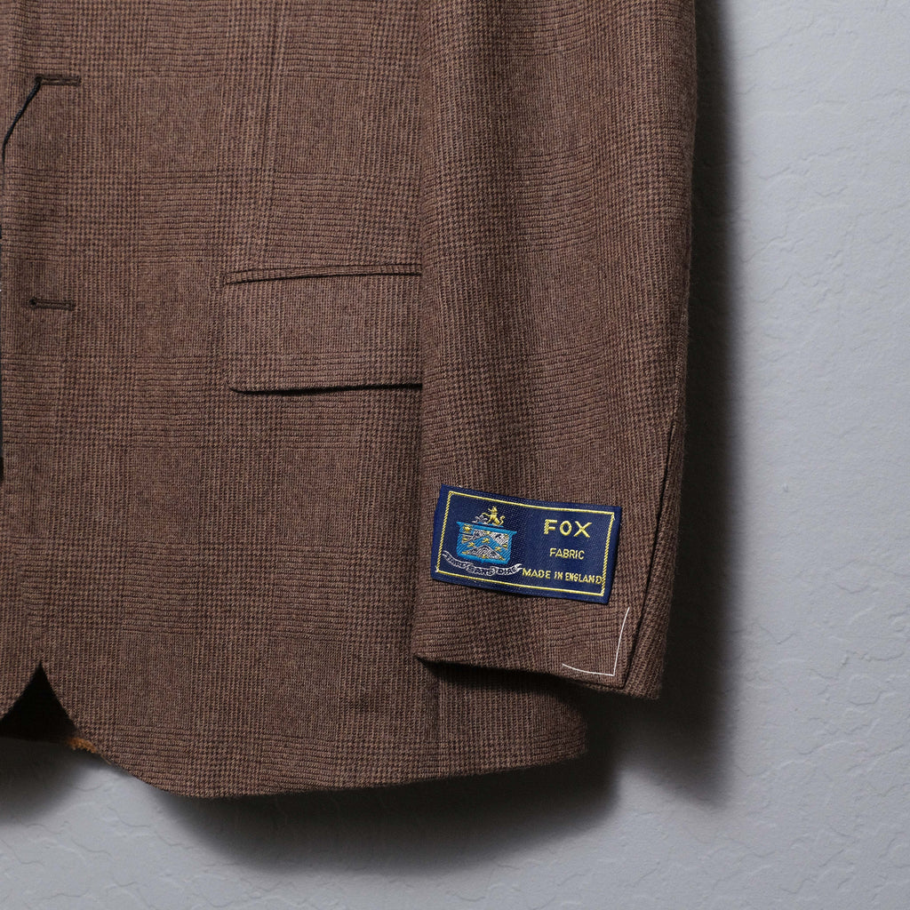 Ring Jacket Brown Prince of Wales Check Suit