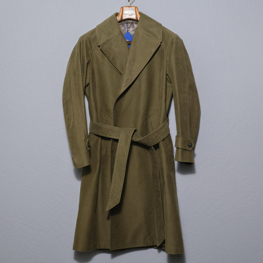 Ring Jacket Olive Moleskin Robe Coat