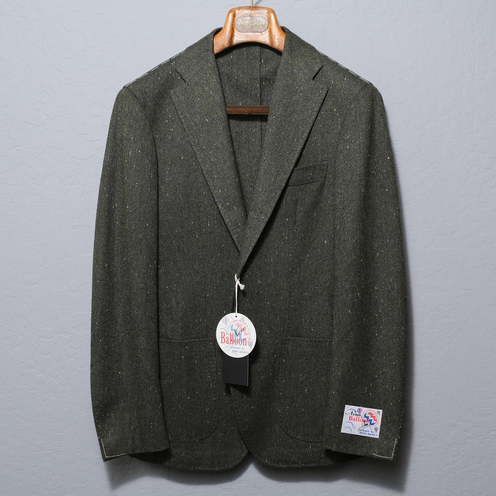 RING JACKET Olive Donegal 'Balloon' Jacket