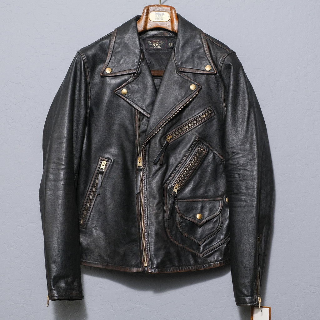 RRL Leather Moto Jacket