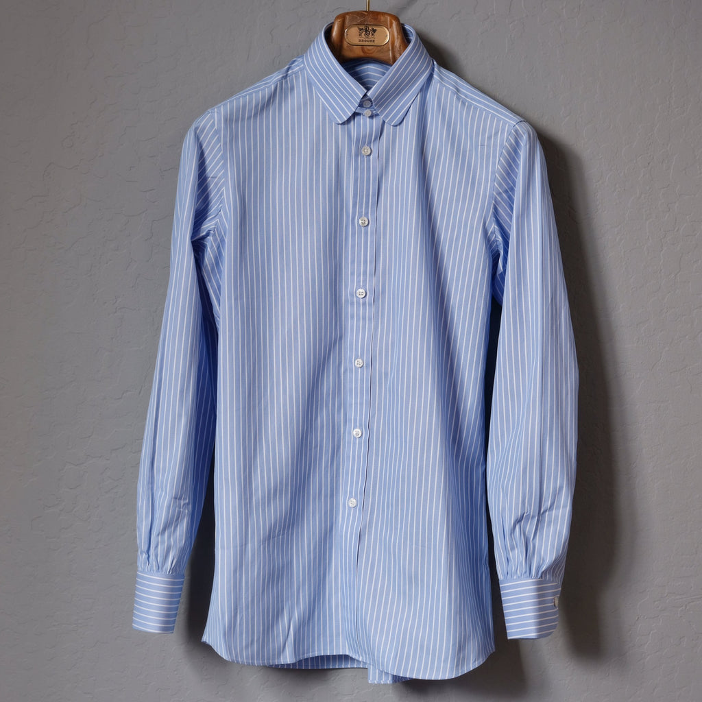 Bryceland's Tab Collar Stripe Shirt