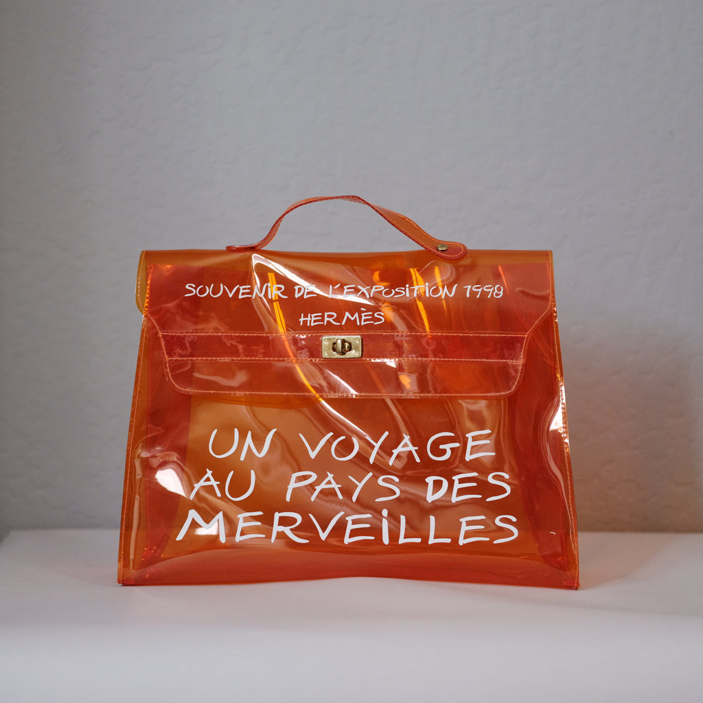 Hermes Limited Edition Orange Clear Kelly 1998