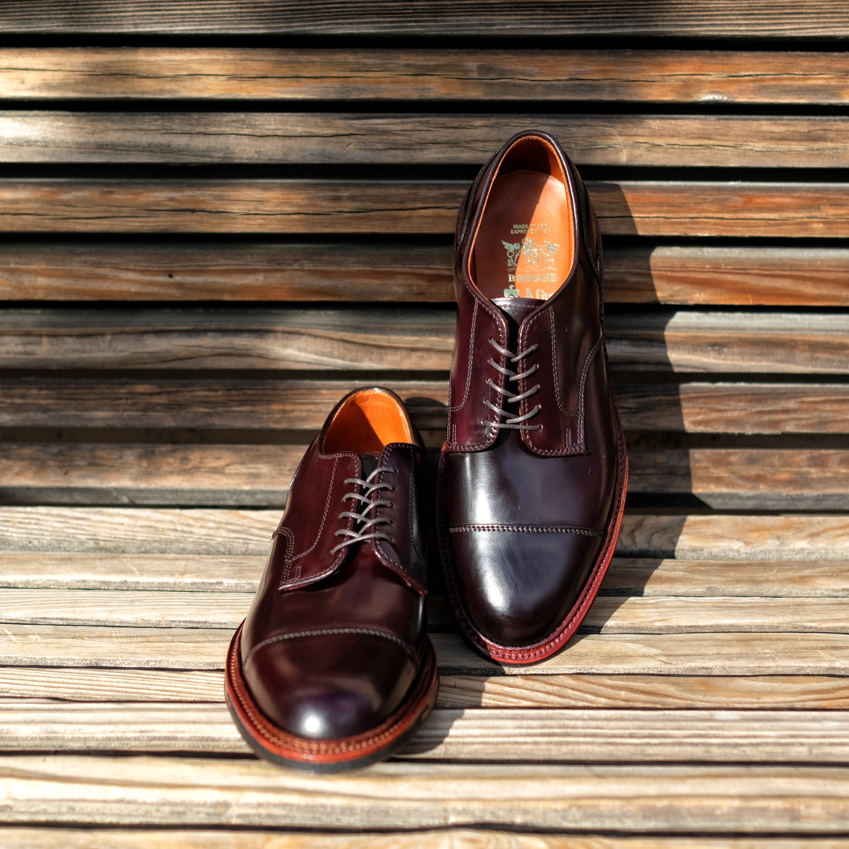 Alden x Brogue Cap Toe Service Blucher