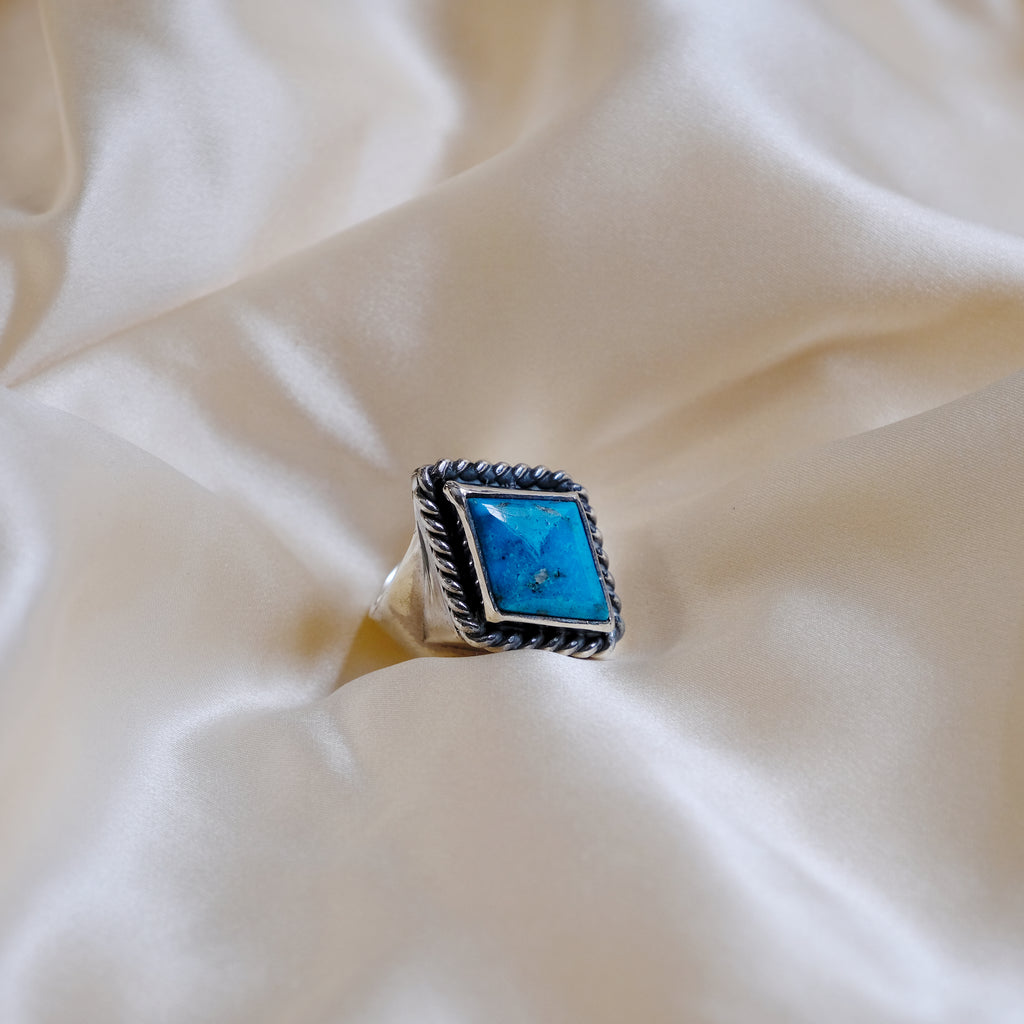 Larry Smith Lozenge Turquoise Ring