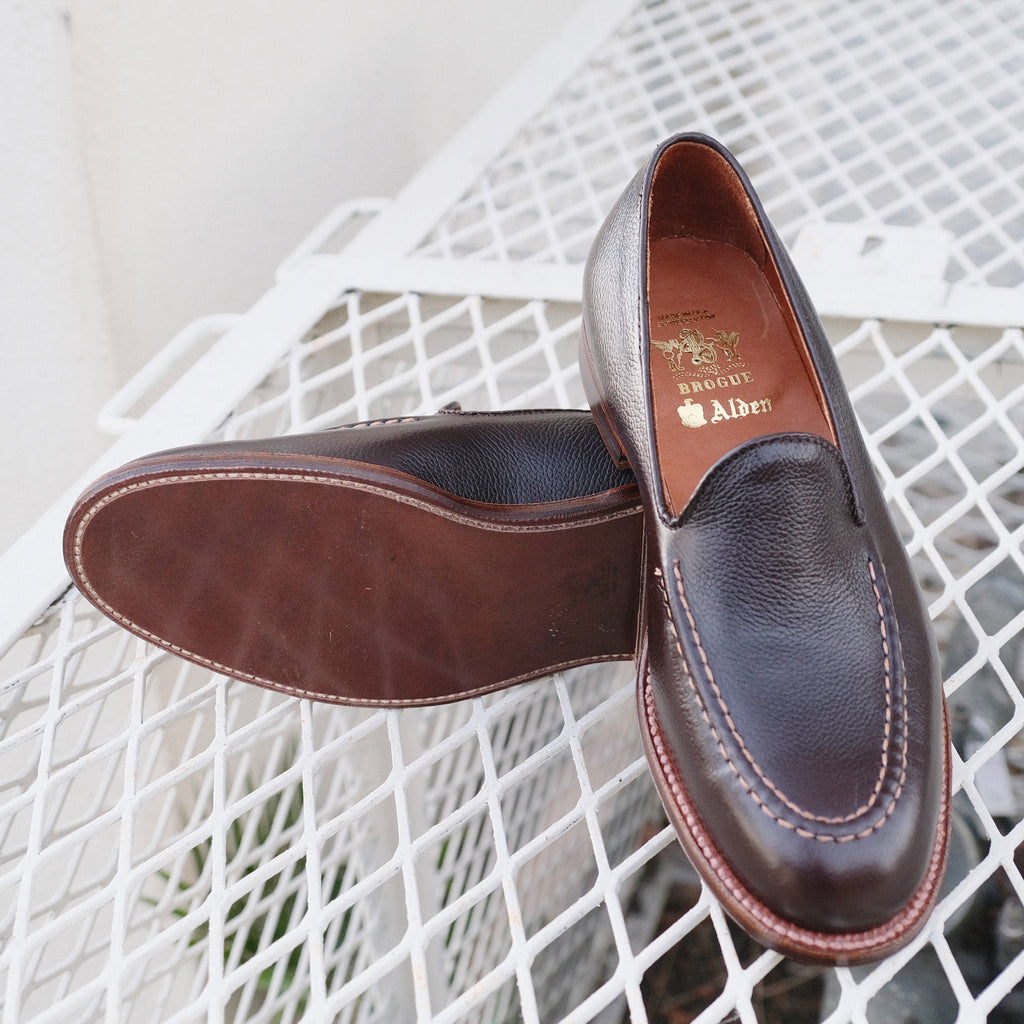 Alden x Brogue  Mocc Toe Slip-On