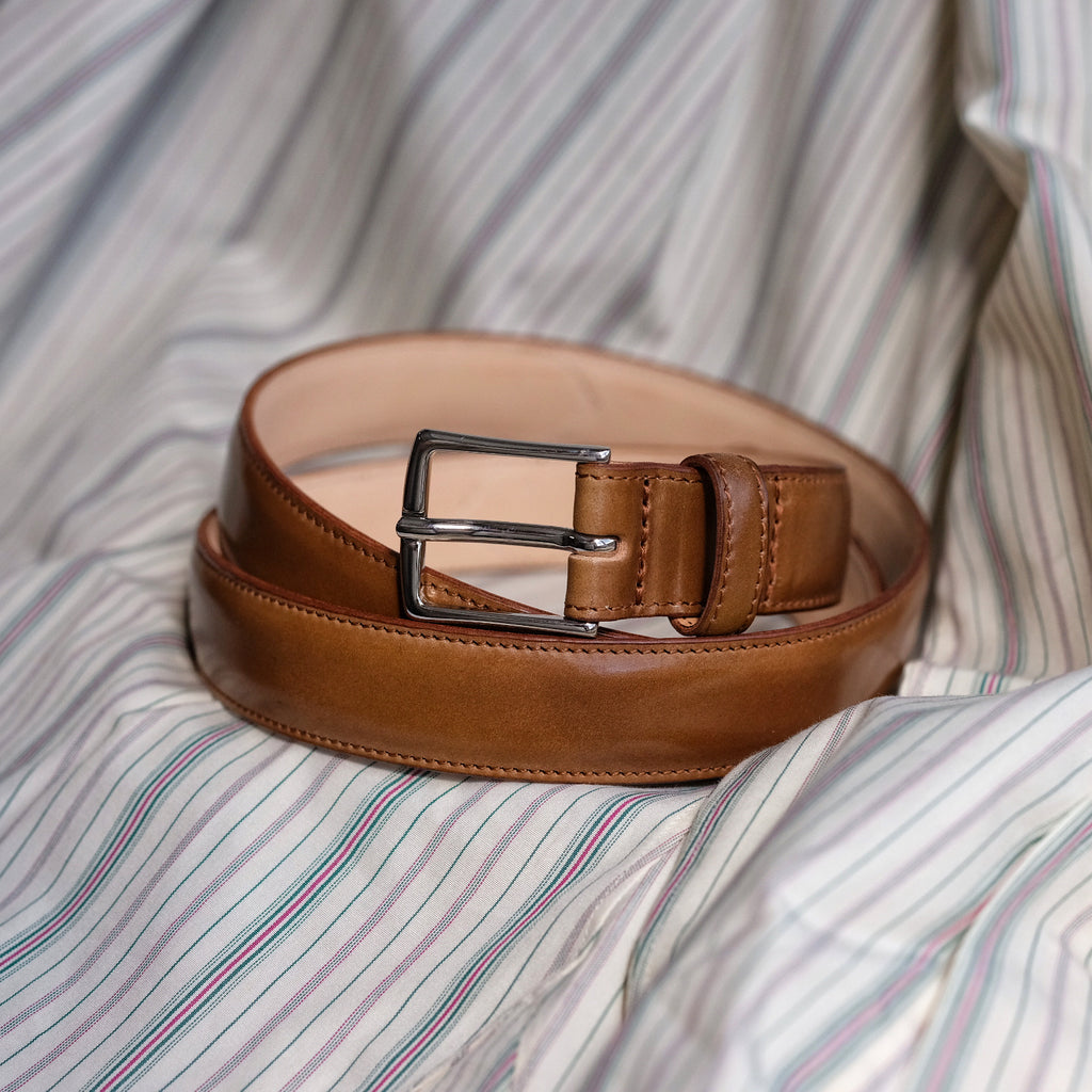 Kreis x Brogue Vintage Style 1'' Belt (Whiskey Shell)