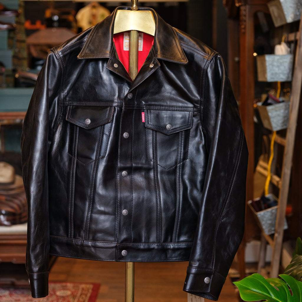 Aero Leather Horsehide Type III Jean Jacket