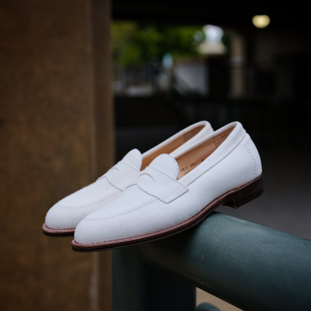 Alden x Brogue Firenze Loafer (Ivory Suede)