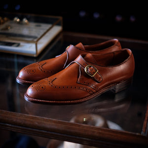 Alden x Brogue Wing Tip Monk Strap