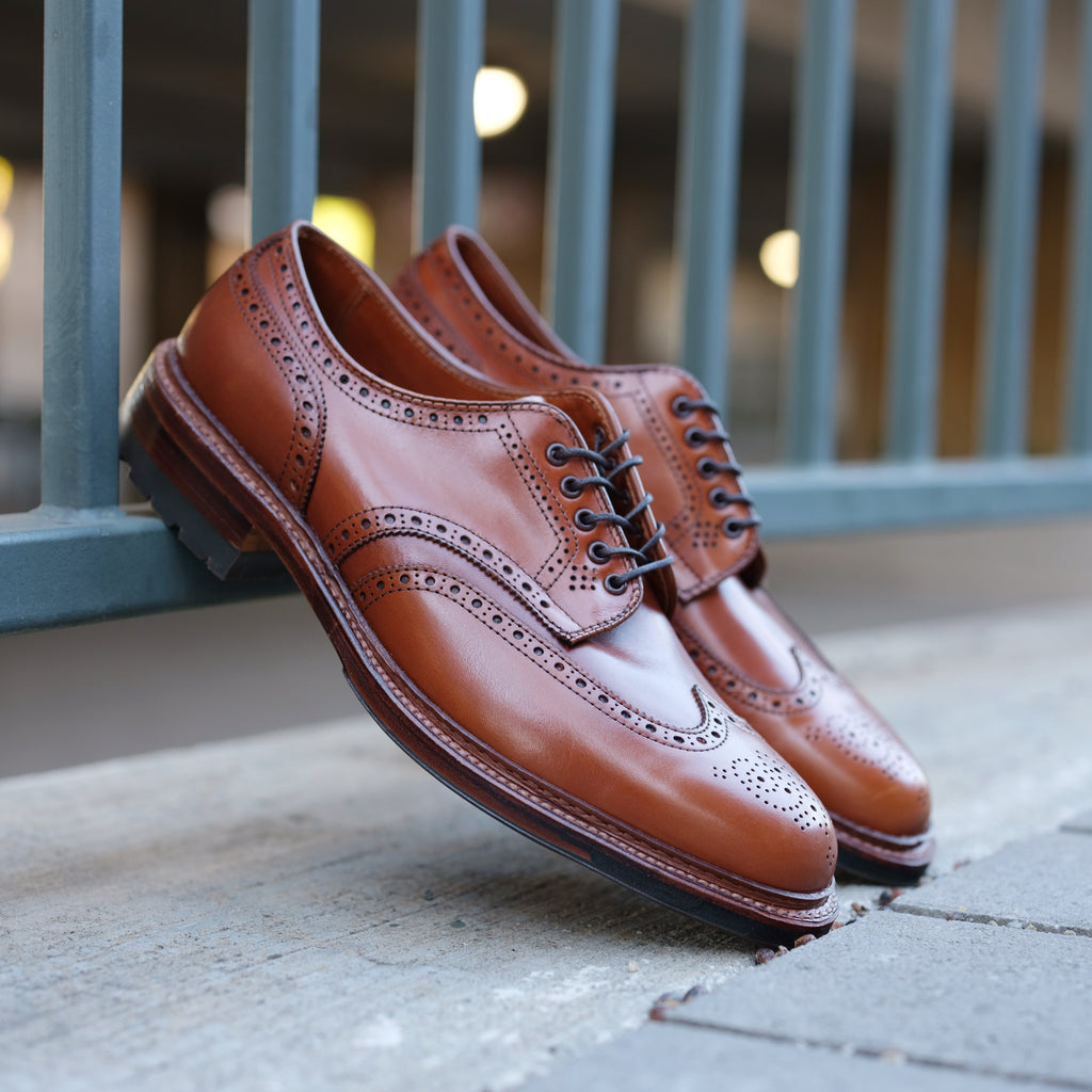 Alden x Brogue Cognac Short Wing Blucher