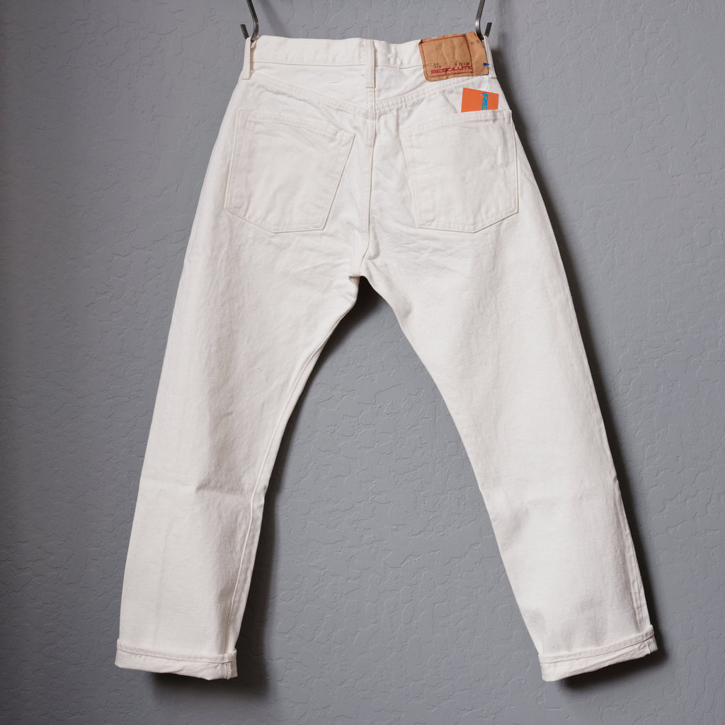 Resolute Slim Straight White Denim - AA710 (10 Years Anniversary Limited Edition)