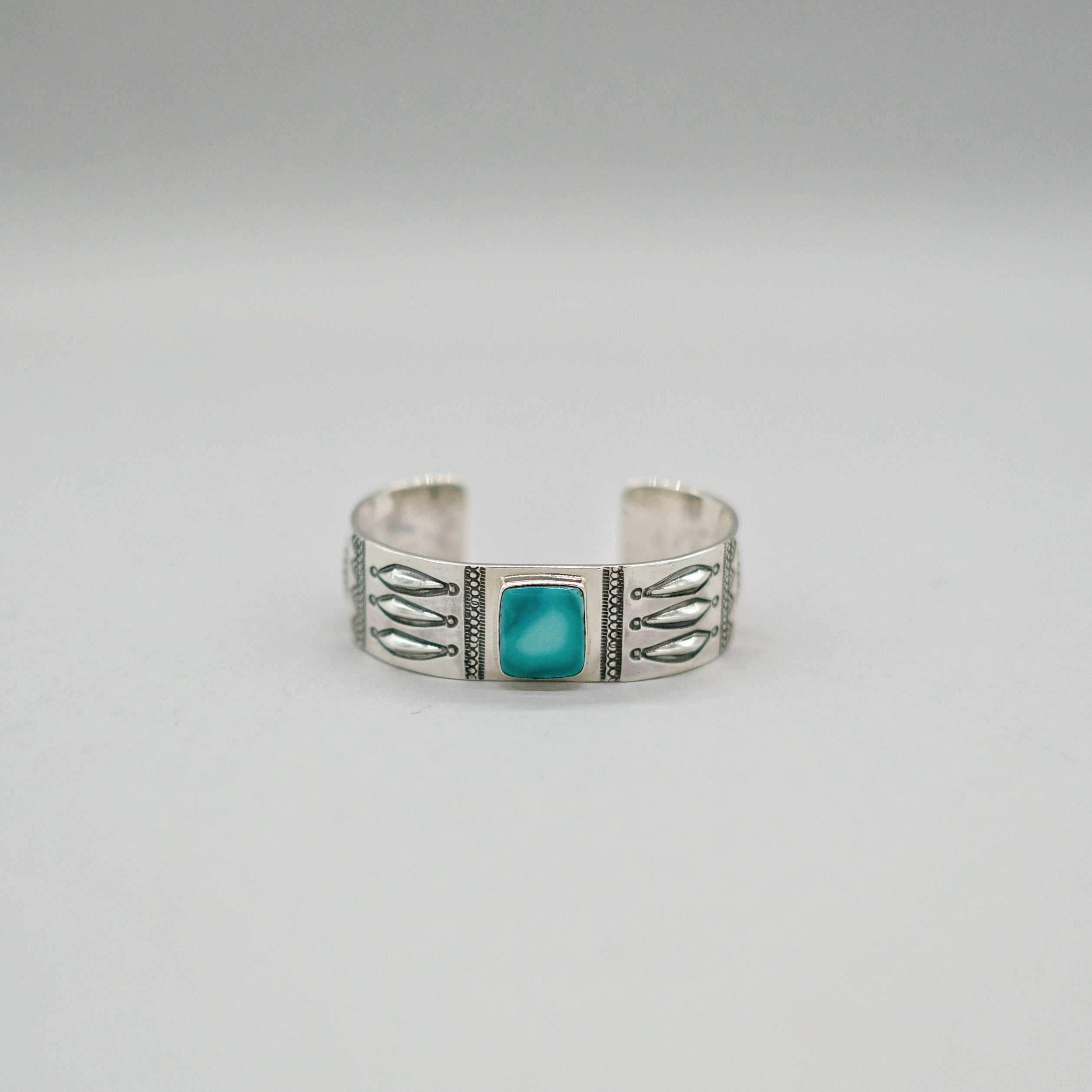 Larry Smith Square Turquoise Bracelet