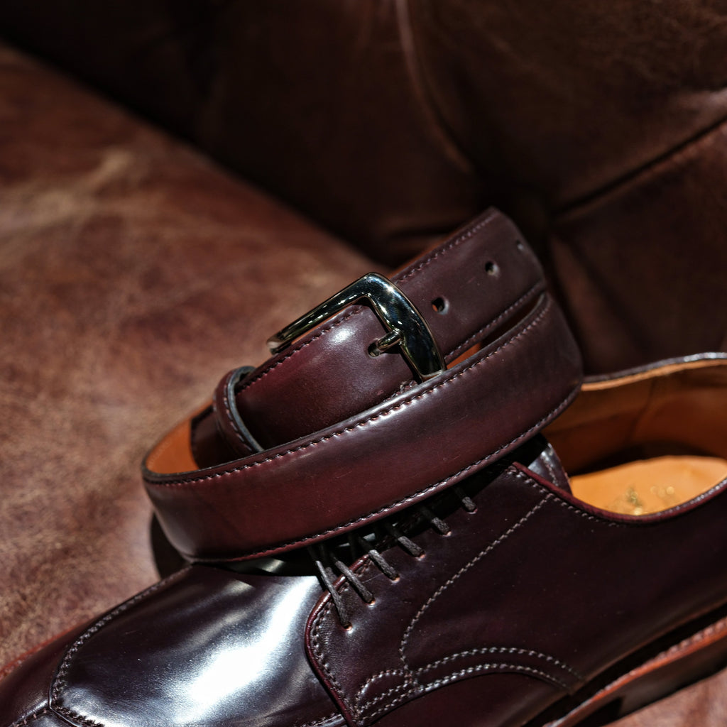 Alden Color 8 Shell Cordovan Belt (Nickel Buckle)