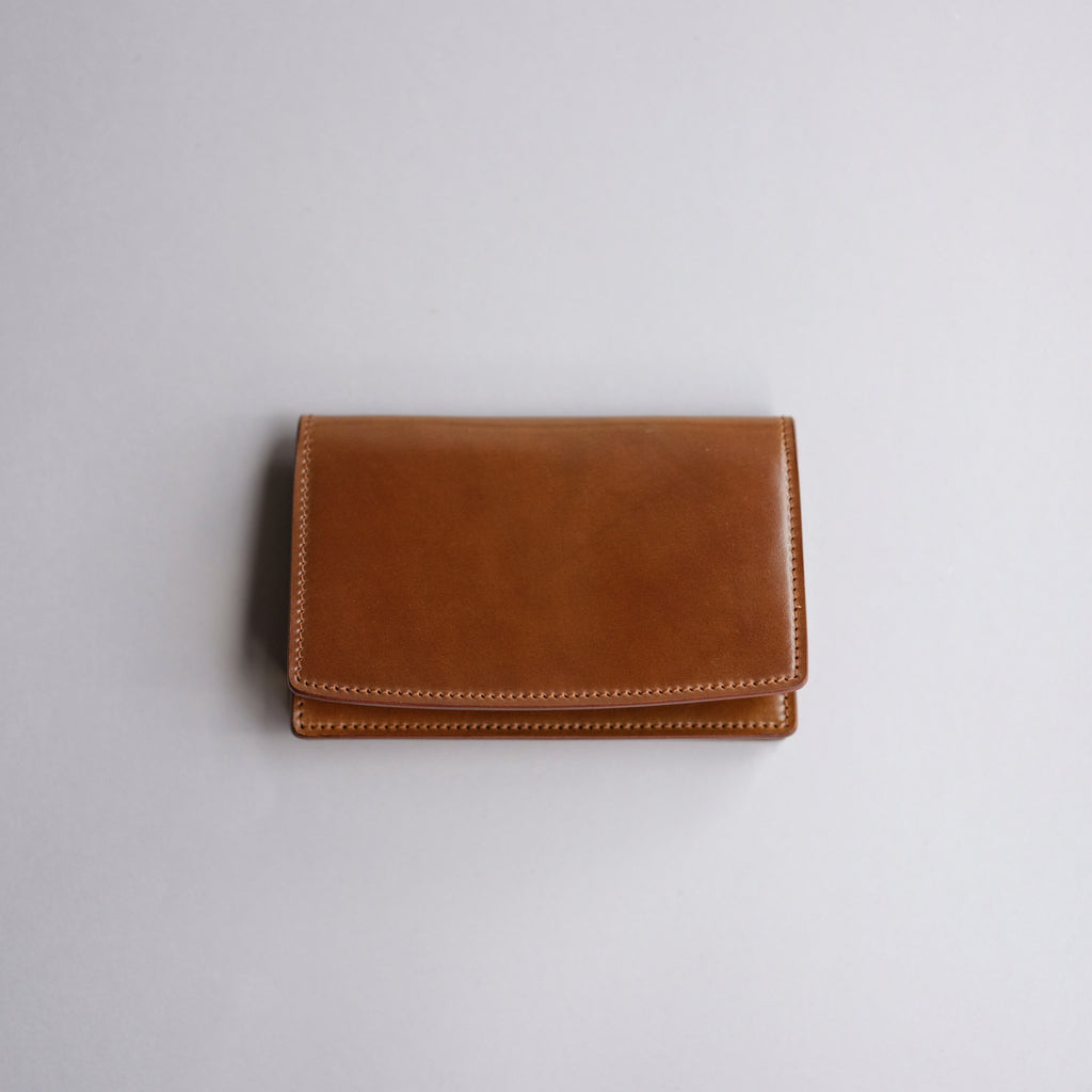 Kreis Cognac Shell Cordovan Business Card Case
