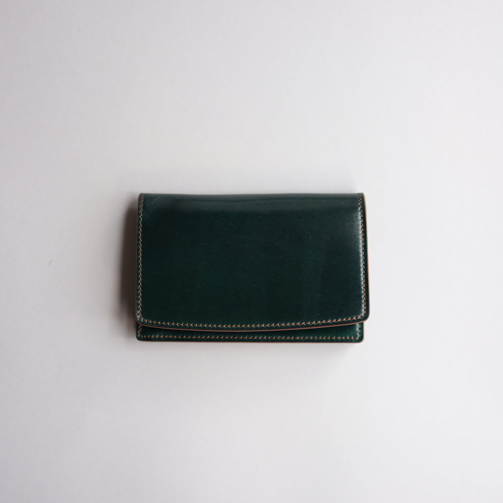 Kreis Green Shell Cordovan Business Card Case