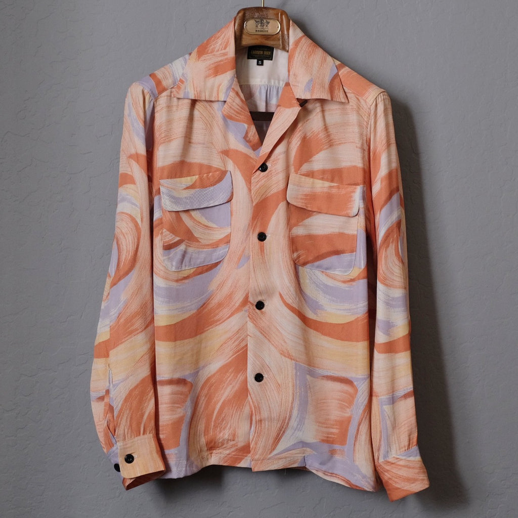 Groovin High 1950's Vintage Rayon Marble Shirt
