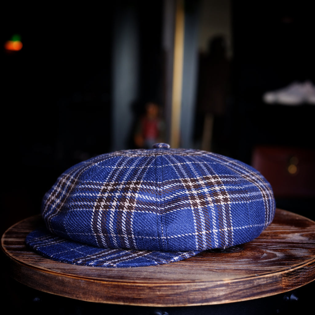 Cappellificio Biellese Wool/Linen Checks Cougan Hat