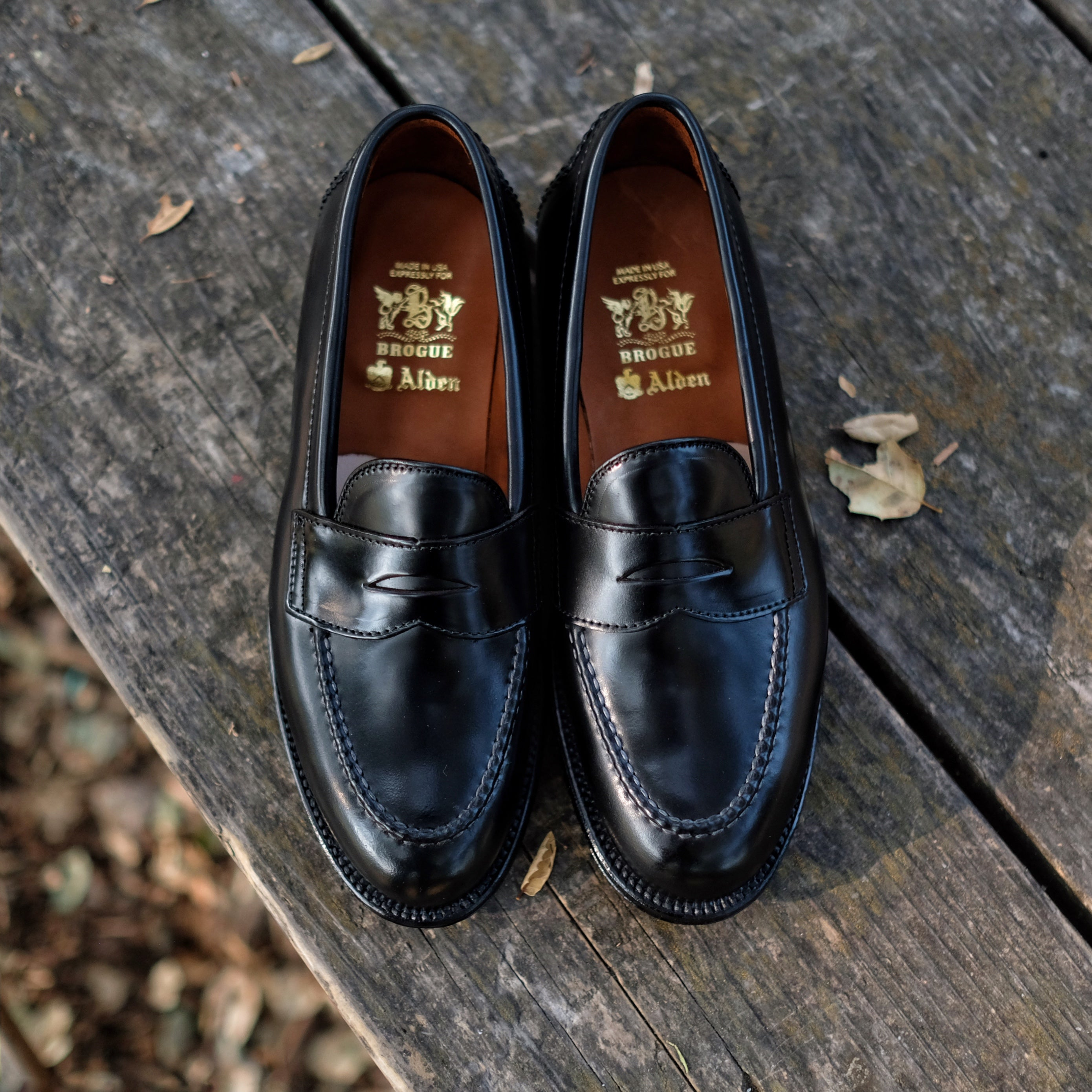 Alden x Brogue Statesman Loafer